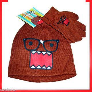 Domo Kun Nerds Ski Winter Hat Beanie Costume Hat Cap Gloves Mittens