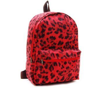 LEOPARD PRINTED SUEDE MEN WOMEN School bag Backpack Book bags Rucksack