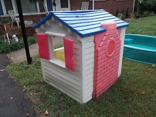 Childrens outdoor playhouse little tikes playhouse cottage for Used kids playhouse