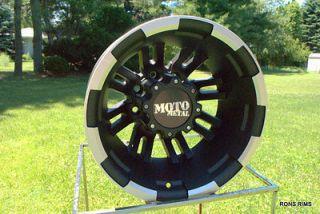 MOTO METAL BLACK MACHINED 963 DUALLY 17 X 6 2011/12 GMC CHEVY