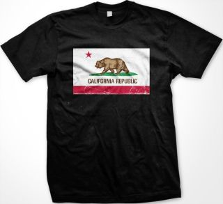 California Republic Flag Mens T shirt United States West Coast Sunny