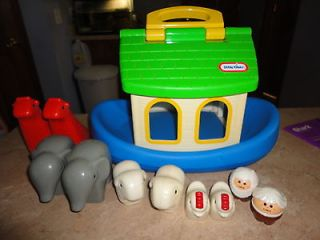 VINTAGE * LITTLE TIKES * NOAHS ARK ANIMAL BOAT PLAYSET TOY ELEPHANT