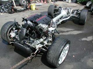 Corvette C5 Rolling Drivetrain Chassis LS1 Engine 69k Automatic Trans