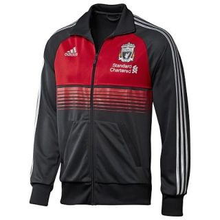 adidas Liverpool FC 2011 SOCCER Track Jacket Charcoal/Red Brand New