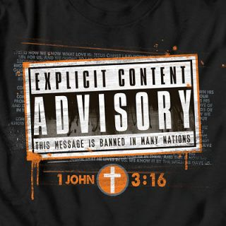 Advisory   Christian T Shirt Version of Parental Advisory Explicit