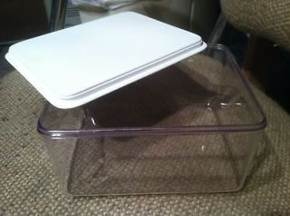 Hard Clear Plastic Storage Container,Lid,​Craft,Small Bin,4x6x7.5