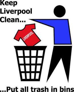 KEEP LIVERPOOL CLEAN EVERTON funny football t shirt
