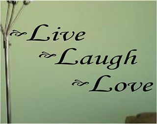 Live Laugh Love* Vinyl Lettering*Hous​e*Wall Decals * Quotes * Words