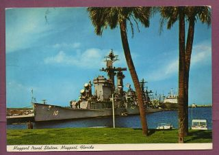 PC Guided Missile Cruiser CG 10 USS Albany Mayport Naval Station Card