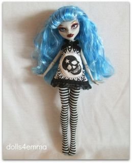 HANDMADE GOTH DRESS & LEOTARDS 4 MONSTER HIGH DOLL Custom Fashion