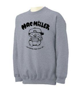 MAC MILLER Crewneck Sweatshirt most dope knock knock wiz khalifa Crew