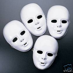 MARDI GRAS WHITE FULL FACE THEATRICAL MASK SET OF 4