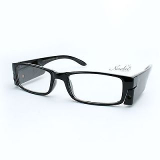 00 LED Light Reading Glasses With A Push Of A Button Black Slim