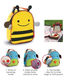 FUNCTIONAL ADORABLE Lunch Box Bag Kids Toddler School
