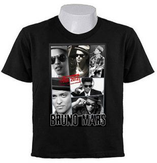 Peter Hernandez BRUNO MARS 2012 TOUR T SHIRTS POP R&B singer HAWAII