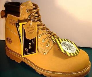 Mens Work Boots Waterproof Steel Toe Tan Size 10.5