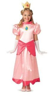 PEACH Costume Girls Super Mario Brothers/Bros Play Halloween 10 12 Med