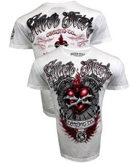 SILVER STAR Diego Sanchez Mens T Shirt UFC MMA   White Diego Sanchez