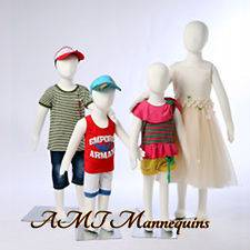 Child Mannequins removable head flexible pinnable Christmas dress