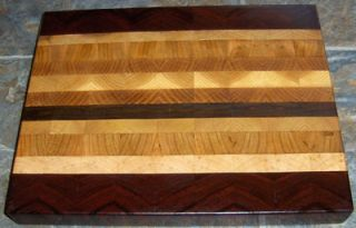 thick Mixed Hardwood End grain Butcher Block Cutting board 13 X