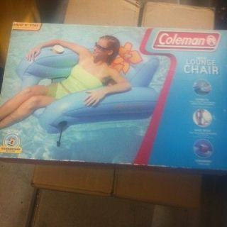 Inflatable Lounge Chair Pool Float Tube W/ Drink Holder Great Deal