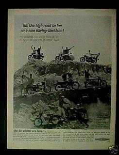 1965 Harley Motorcycle Motor Bike 50cc. to 1200cc. Ad