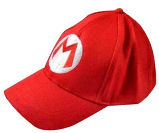 Super Mario Bros Cosplay Baseball M Hat Mario Red Cap EE