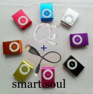 Mini Fashoin Clip Metal USB  Music Media Player Support 1   8GB