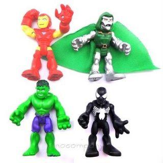 Lot 4X MARVEL Super Hero Squad Hulk Iron man The Avengers Spider man