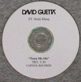 feat. Nicki Minaj   Turn Me On   Capitol U.S. PROMO cdr   RARE