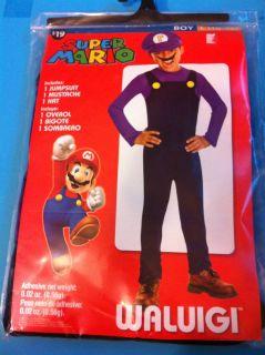 Super Mario WaLuigi Costume SZ S M L XL Blue Green Jumpsuit Hat