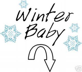 Winter Baby pregnant ladies girls Maternity T shirt