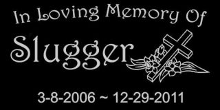 In Loving Memory Of Granite w/Cross Pet Memorial Grave Marker