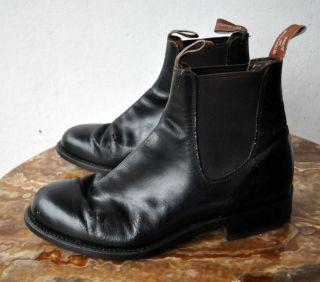 Black Leather Riding Boots Shoes Sz 7 G WF AU Mens/Sz 40(Eu) Unisex