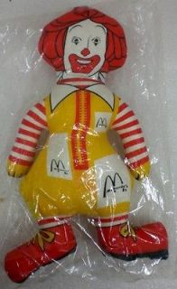 RONALD MCDONALD CLOTH DOLL SEALED MIB MCDONALDS STUFFED TOY PLUSH