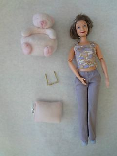 Pregnant Midge Babys GRANDMOTHER Barbie Doll w/ Teddy Chair Pillow