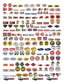 NOSTALGIC DECALS, 118 SCALE, FOR GASSER, HOT ROD, STREET ROD, RAT ROD