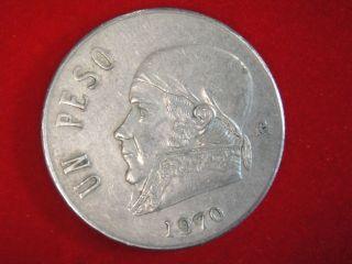 1972 Un Peso 1 Peso Mexico Mexican Coin  COOL! #z1