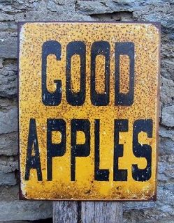 Good Apples Metal Sign Retro Kitchen Cafe Home Wall Decor Gift USA