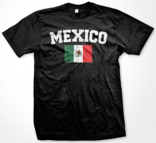 Mexico World Cup Soccer Mexican Pride Flag Mens T Shirt