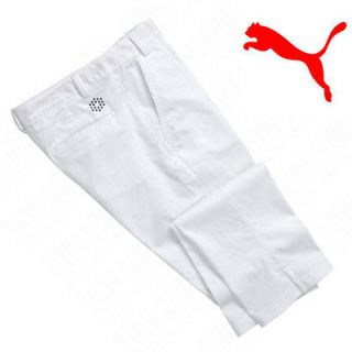 NWT 2012 Puma Mens Golf Style Pants Trousers White 34x32 Rickie