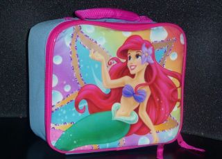 LITTLE MERMAID ARIEL DISNEY Girls Lead Safe Insulated Lunch Tote Box