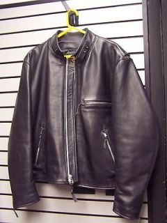 EASY RYDER CAFE RACER LEATHER MOTORCYCLE JACKET BLACK MENS SIZE 48
