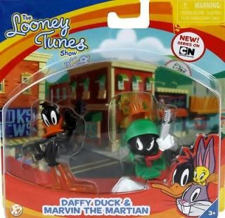 Looney Tunes Figures   Daffy Duck & Marvin The Martian