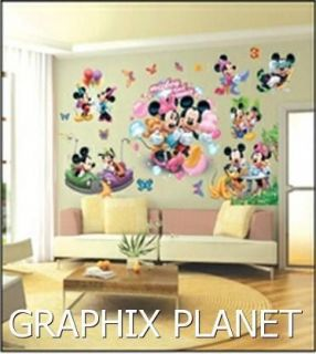 LARGE MICKEY MOUSE WALL STICKERS FOR KIDS/ CHILDREN BEDROOM, WALL
