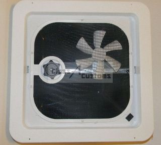 New VENTLINE 14 x 14 RV Roof Vent with 12 volt Fan **Ships Free**