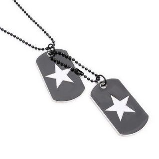 Military Army Style 2 Dog Tags Chain Beauty Mens Pendant Necklace