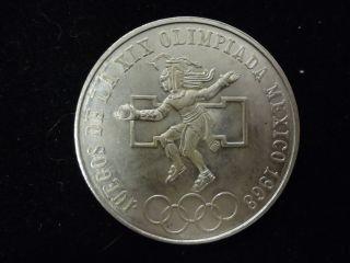 1968 Mexico 25 Pesos Olympic Silver Coin