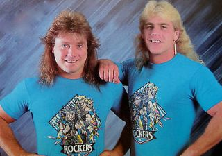 The ROCKERS WWF HBK Shawn Michaels SCREEN*STARS T shirt 80s vtg M