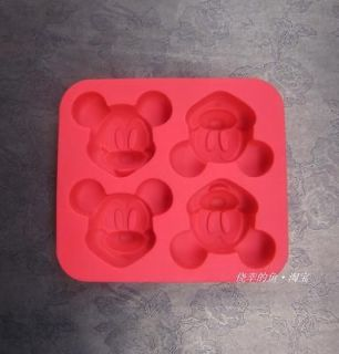 Mickey Mouse Cartoon Multi Use Red ColorSilicone Cup Cake / Pudding